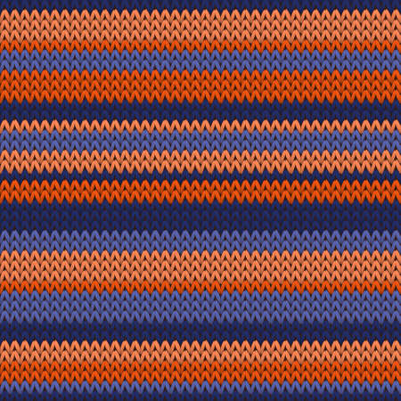 Woolen horizontal stripes knitted texture geometric seamless pattern. Ugly sweater knitwear structure imitation. Traditional seamless knitted pattern. Fabric canvas illustration. Vettoriali