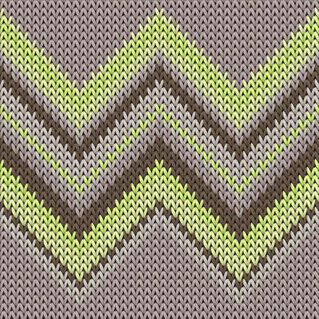 Soft zig zal lines christmas knit geometric seamless pattern. Rug knitting pattern imitation. Traditional seamless knitted pattern. Cozy textile print design.