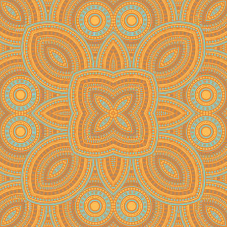 Beautiful italian maiolica tile seamless pattern. Ethnic geometric vector swatch. Coverlet print design. Traditional italian mayolica tilework recurrent pattern. Wall decoration template. Çizim