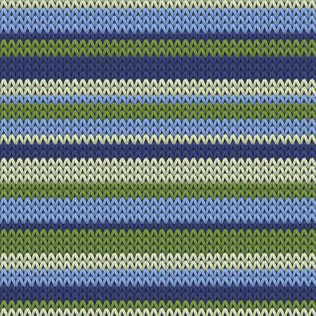 Fashionable horizontal stripes christmas knit geometric vector seamless. Blanket knitting pattern imitation. Fashionable seamless knitted pattern. Repeatable background. Vettoriali