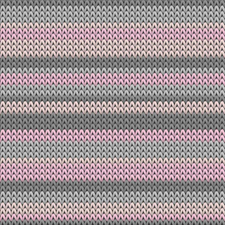 Bright horizontal stripes knitting texture geometric vector seamless. Plaid knit effect ornament. Scandinavian style seamless knitted pattern. Abstract xmas wallpaper.