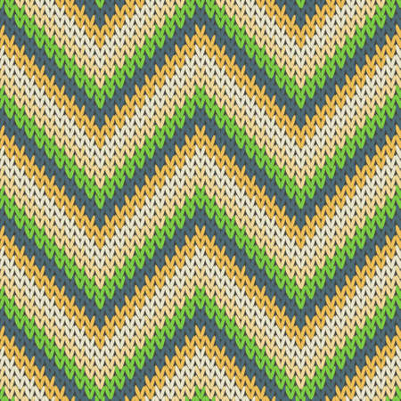Woven zigzag chevron stripes christmas knit geometric seamless pattern. Pullover stockinet ornament. Classic warm seamless knitted pattern. Abstract xmas wallpaper.