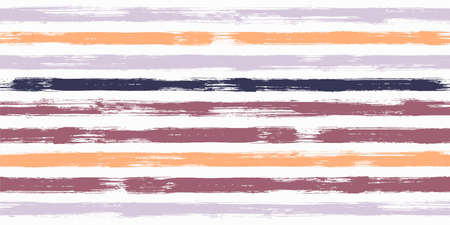 Smeared watercolor brush stripes seamless pattern. Ink paintbrush lines horizontal seamless texture for backdrop. Hand drown paint strokes decoration artwork. For textile.