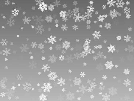 Snow flakes falling macro vector illustration, christmas snowflakes confetti falling scatter banner. Winter snow shapes decor. Motion flakes falling and flying winter simple vector background 向量圖像