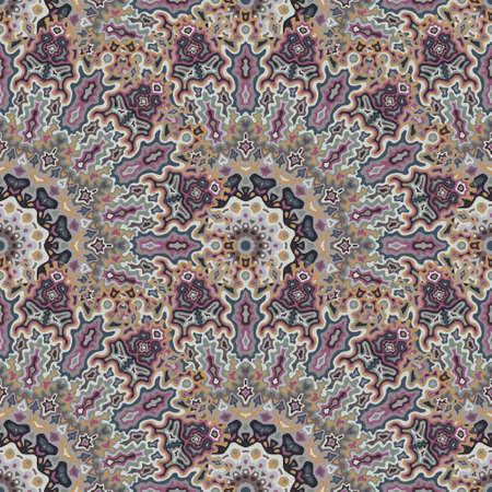 Chakra geometric seamless ornament. Arabic ethnic vector composition. Lace modern chakra flower seamless pattern. Interior decoration print.