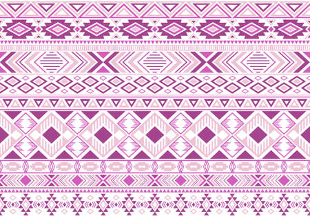 Sacral tribal ethnic motifs geometric seamless background. Doodle gypsy tribal motifs clothing fabric textile print traditional design with triangles Stock Illustratie