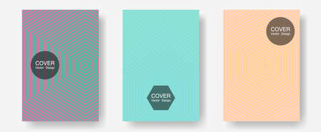 Halftone gradient texture vector cover layouts. Music placards. Halftone lines annual report templates. Vivid mockups samples. Multiple lines cool gradient texture backgrounds.