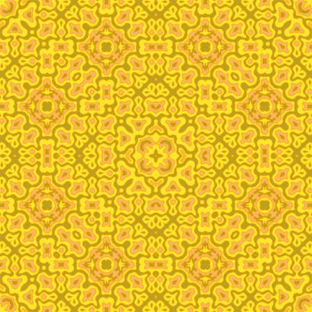 Flat arabic motifs seamless pattern vector design. Organic abstract ornament. Wrapping endless pattern. Vintage design. Interior decor print.