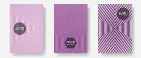 Abstract shapes of multiple lines halftone patterns. Simple book covers. Halftone lines annual report templates. Technicolor composition. Cool abstract shapes gradient texture backgrounds. Çizim