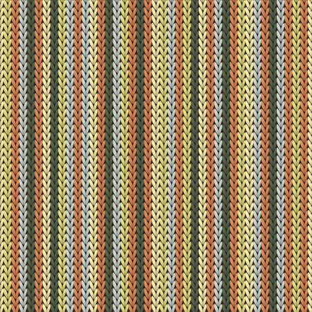 Cool vertical stripes knit texture geometric vector seamless. Fair isle sweater knit tricot  fabric print. Traditional seamless knitted pattern. Cozy textile print design.