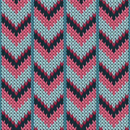 Clothing downward arrow lines knitted texture geometric seamless pattern. Fair isle sweater knitting pattern imitation. Norwegian style seamless knitted pattern. Winter holidays wallpaper.