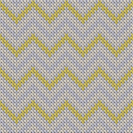 Natural chevron stripes knitted texture geometric seamless pattern. Ugly sweater knit tricot  fabric print. Nordic style seamless knitted pattern. Christmas spirit backdrop. Çizim
