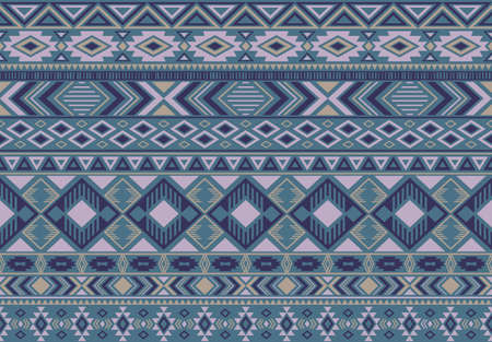 Boho pattern tribal ethnic motifs geometric seamless vector background. Chic boho tribal motifs clothing fabric textile print traditional design with triangle and rhombus shapes.