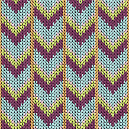 Close up downward arrow lines knitting texture geometric seamless pattern. Scarf knit effect ornament. Norwegian style seamless knitted pattern. Christmas spirit backdrop.