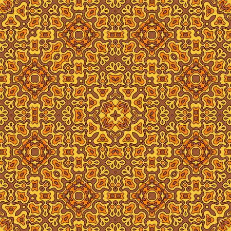 Modern tribal motifs seamless pattern graphic design. Organic abstract ornament. Wrapping endless pattern. Vintage design. Interior decor print. Çizim