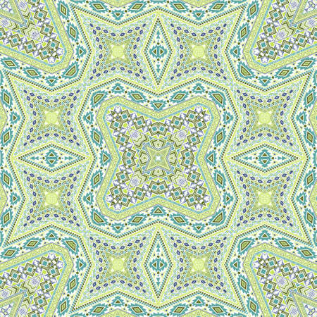 African seamless pattern vector design. Oriental geometric background. Textile print in ethnic style. Embroidery motifs in spanish style.