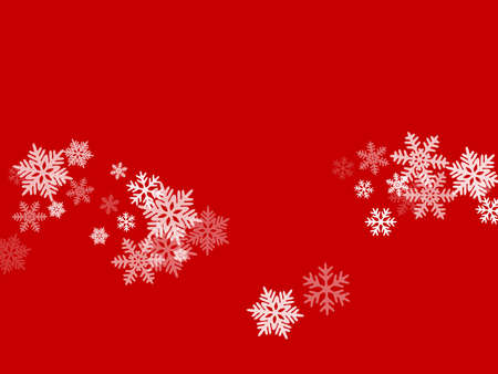 Snow flakes falling macro vector graphics, christmas snowflakes confetti falling scatter backdrop. Winter snow shapes decor. Windy flakes falling and flying winter cold weather vector.
