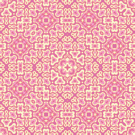 Fancy tribal motifs seamless pattern graphic design. Continuous fashion ornament. Wrapping endless pattern. Vintage design. Interior decor print.