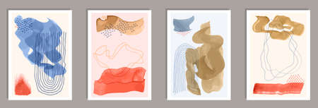 Hand painted decorative canvas vector collection. Ilustração
