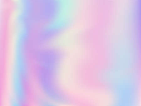 Neon holographic paper fluid gradient backdrop. Soft pastel rainbow unicorn background. Liquid colors neon background. Magic blurred splash holographic vector wrapping paper.