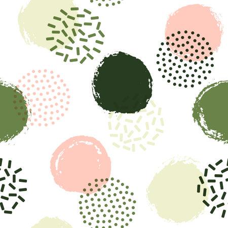 Memphis circles seamless pattern for fabric print.