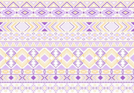Tribal ethnic motifs geometric vector seamless background. Ilustração