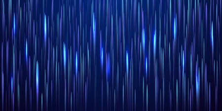 Glowing lines falling abstract big data concept tech vector background. Digital geometric blue lines streams visual optic technology, speed concept. Fiber optics abstract scientific background in blue Ilustração