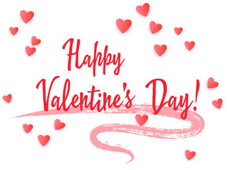 Happy Valentine Day lettering cool holiday banner