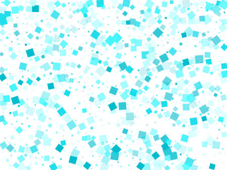 Falling rhombus shapes pattern. Light azure