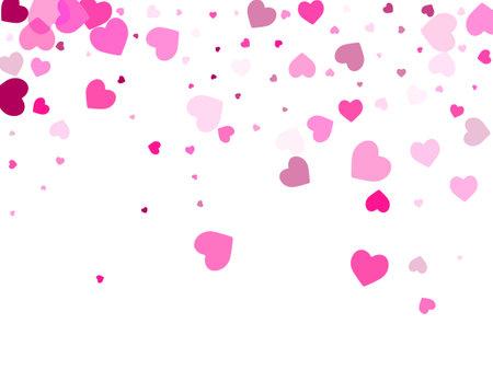 Pink heart shapes wallpaper. Friendship symbols. Ilustração