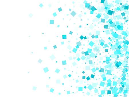 Chaotic quadrangles vector. Vivid azure square