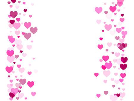 Crimson heart confetti design. Friendship