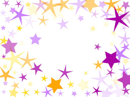 Violet and yellow stardust confetti texture. Ilustração