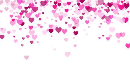 Pink heart elements pattern. Wedding decor.
