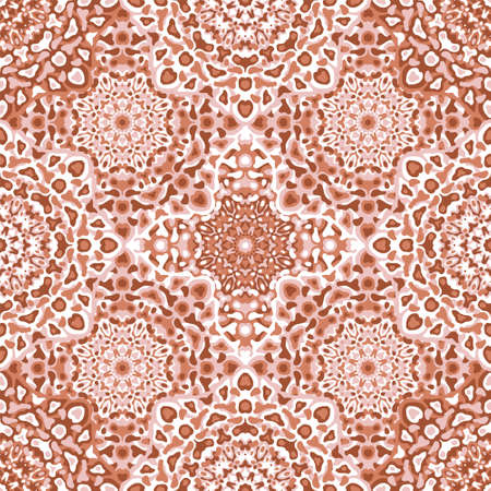 Delicate openwork geometric floral seamless pattern vector fashionable graphic design for textile print, ethnic batik, cloth fabric. Floral geometric abstract ornament. 向量圖像