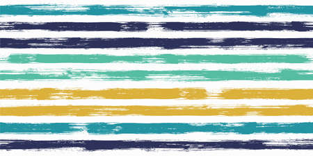 Hipster watercolor brush stripes seamless pattern. Ink paintbrush lines horizontal seamless texture for background. Hand drown paint strokes decoration artwork. For garment. 向量圖像