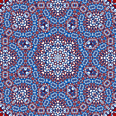 Tile azulejos mosaic seamless pattern, oriental ethnic patchwork, tribal mandala design, portuguese tile ornament. Ceramic azulejos seamless template. Beautiful colored pattern. Portuguese style.