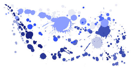 Gouache paint stains grunge background vector. Sprawling ink splatter, spray blots, dirt spot elements, wall graffiti. Watercolor paint splashes pattern, smear liquid stains spots background. 向量圖像