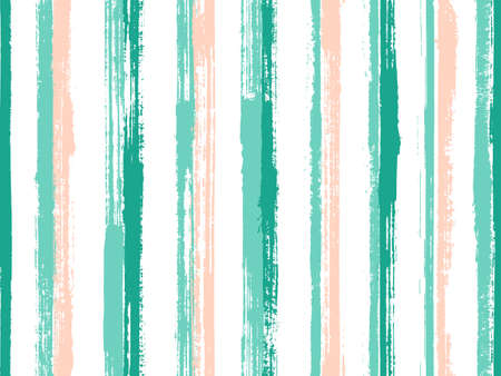 Ink hand drawn parallel lines vector seamless pattern. Minimal linen fabric print design. Grainy texture parallel lines, striles background swatch. Repeatable pattern.