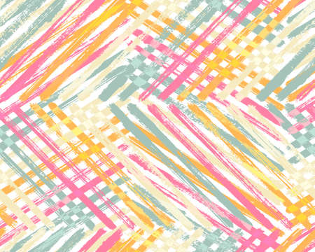 Creative paint background vector design. Brush strokes stripes multicolor surface. Gouache paint modern backdrop. Foto de archivo - 168165575