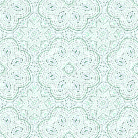 Girih traditional mosaic vector seamless ornament. Tile patchwork design. Classic majolica pattern. Wall print design. Star symmetry elements texture.