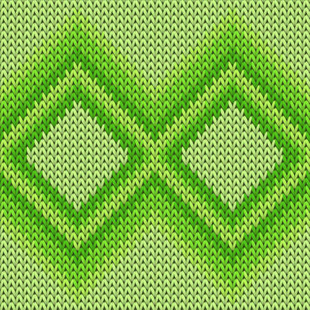 Bright rhombus argyle knit texture geometric vector seamless. Plaid knitwear fabric print. Fashionable seamless knitted pattern. Christmas spirit backdrop.