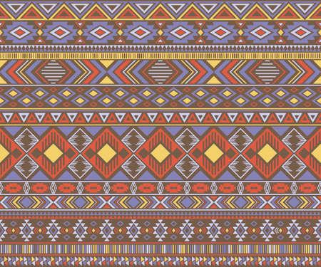 Peruvian american indian pattern tribal ethnic motifs geometric vector background. Eclectic native american tribal motifs textile print ethnic traditional design. Navajo symbols fabric pattern.