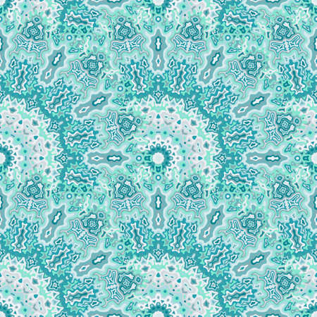 Peacock flower seamless pattern. Arabic ethnic vector composition. Intricate traditional mandala floral seamless ornament. Wrapping paper print. Иллюстрация