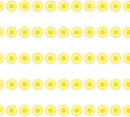 Sun with curled rays. Bright shining day-star with spiral sunbeams. Vector cartoon pattern for spring or summer design. Also can be used to depict solar activity, magnetic storm, sunny weather.