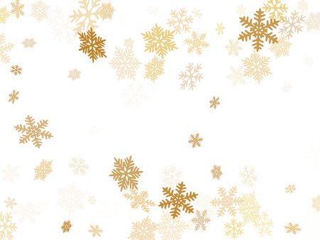 Snow flakes falling macro vector design, christmas snowflakes confetti falling scatter backdrop. Winter xmas snow background. Motion flakes falling and flying winter cool vector background