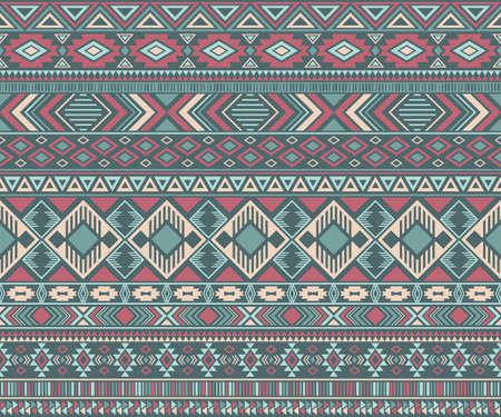 American indian pattern tribal ethnic motifs geometric vector background.