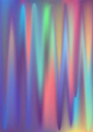 Hologram gradient background. Iridescent holo texture. Pearlescent unicorn vector backdrop.
