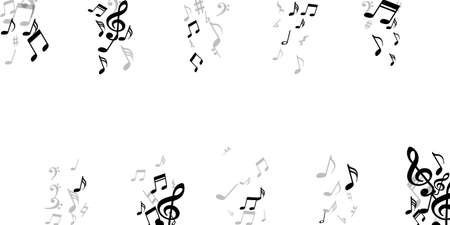 Music notes cartoon vector illustration. Audio