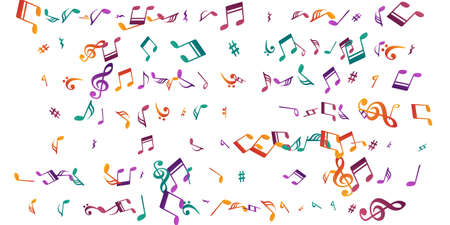 Music note symbols vector illustration. Symphony